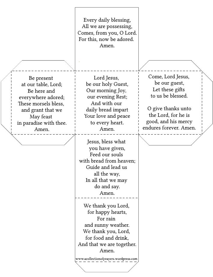 Table Prayer Cube