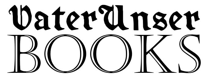 VaterUnser Books, black on white